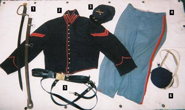 Union enlisted man, Artillery uniform