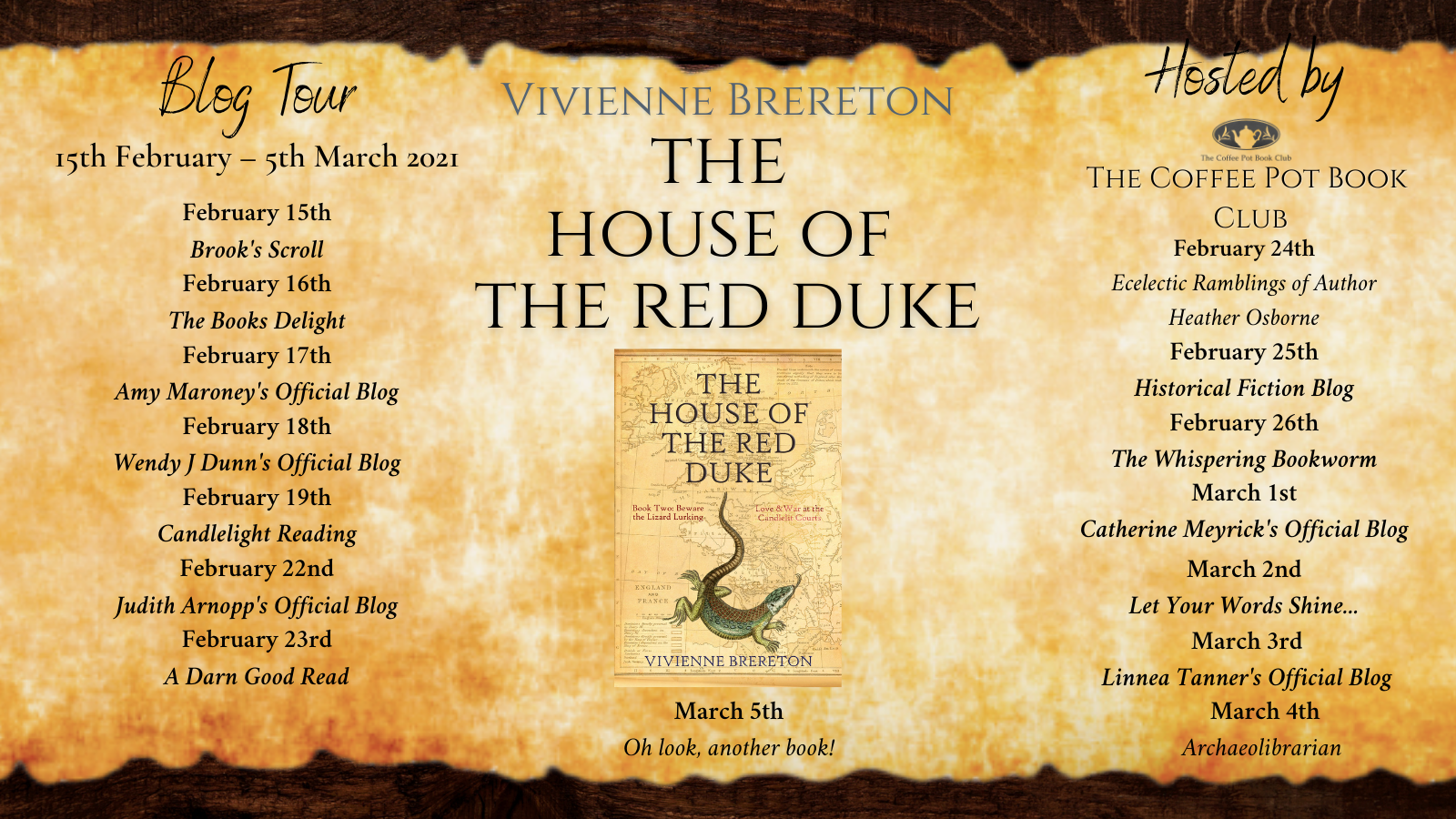 The House of the Red Duke Tour Schedulepng