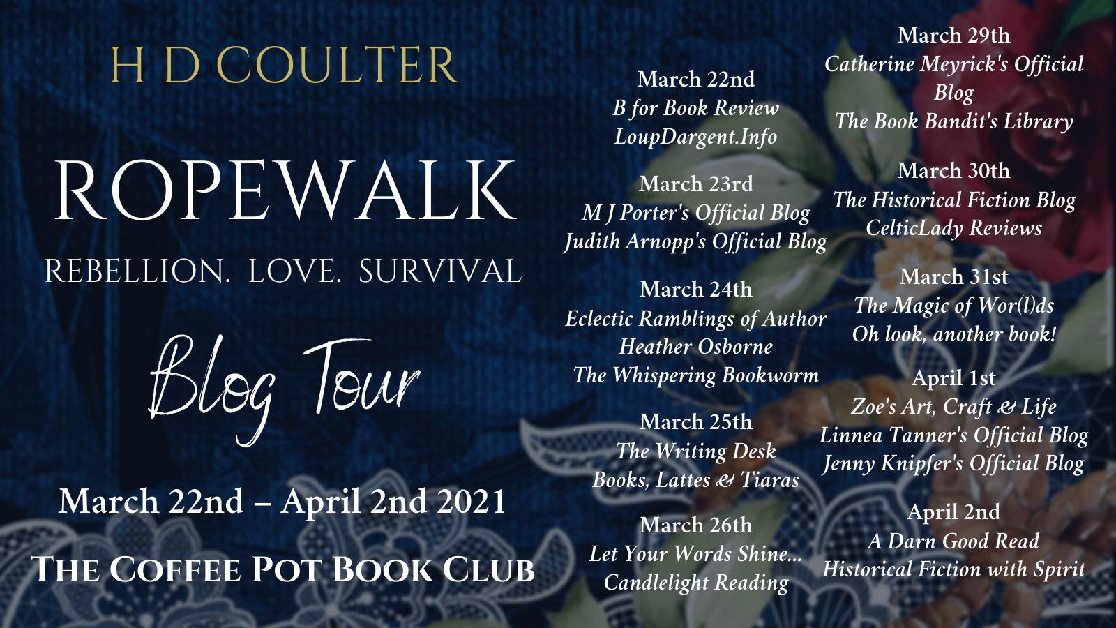 Ropewalk Tour Schedule Banner