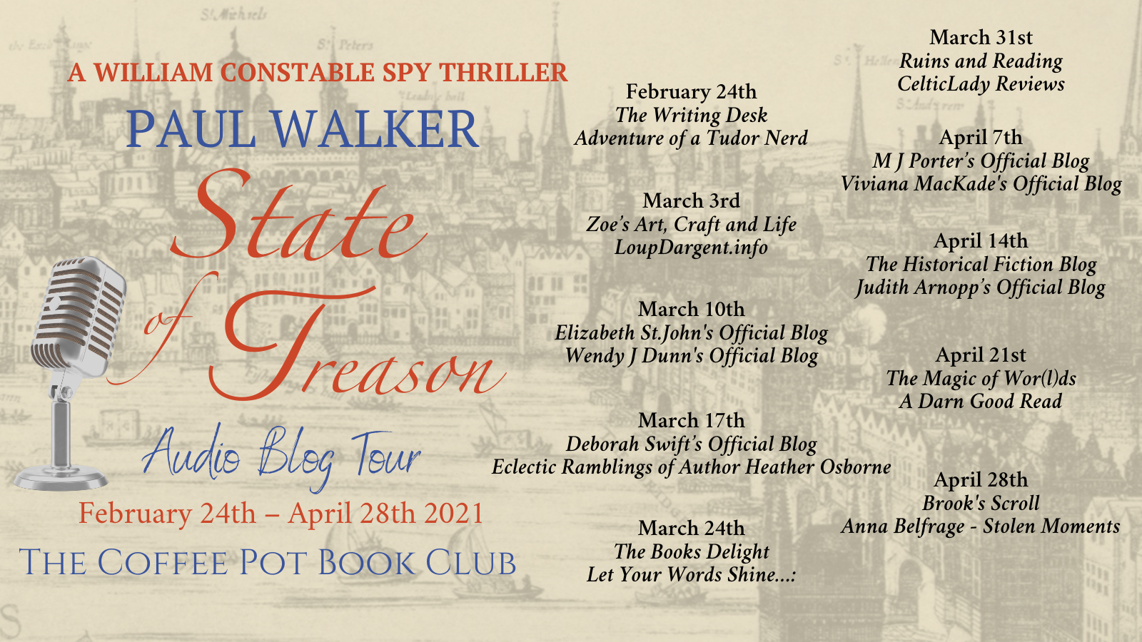 State of Treason Tour Schedule Banner