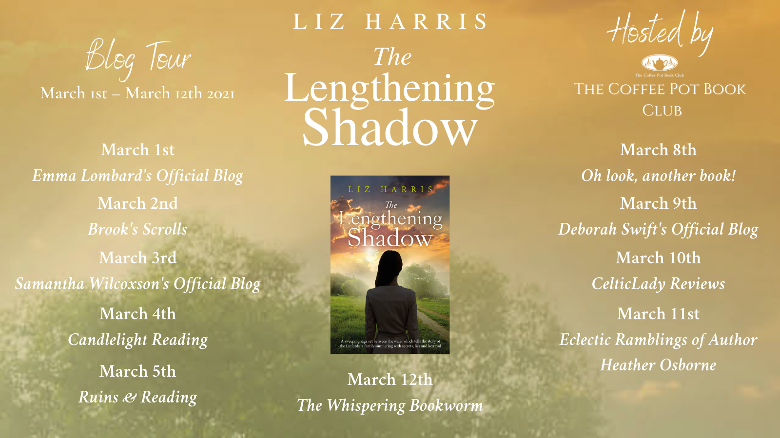The Lengthening Shadow Schedule Banner