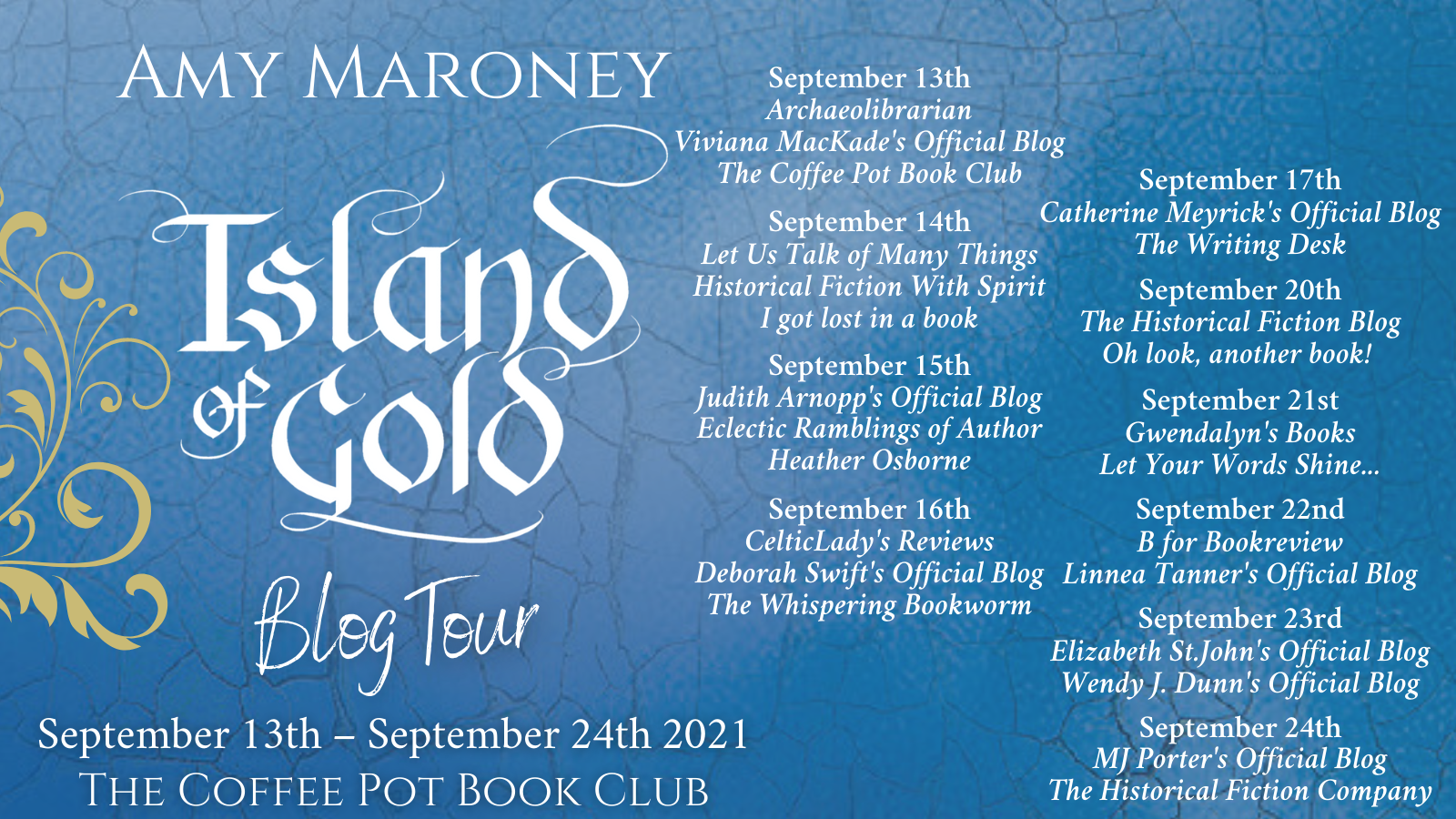 Island of Gold Tour Schedule Banner